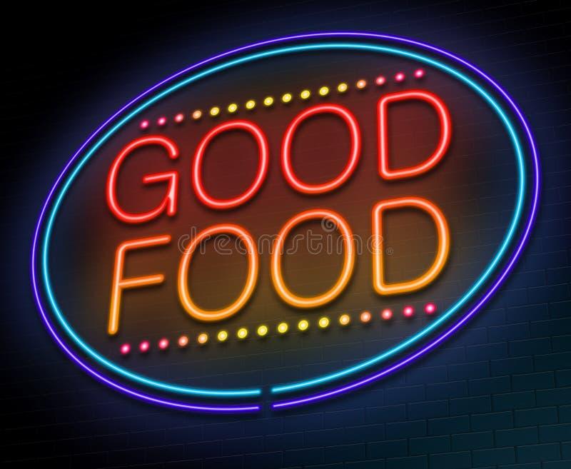 Bom conceito do alimento. ilustração do vetor