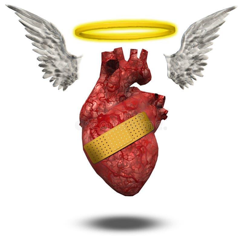 Bom coração ferido ilustração royalty free