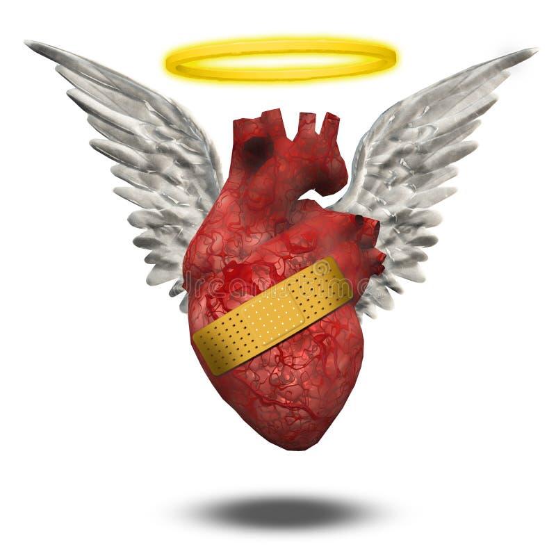 Bom coração ferido ilustração do vetor