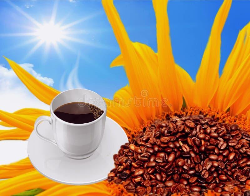 Bom dia com uma xícara de café fotos de stock royalty free