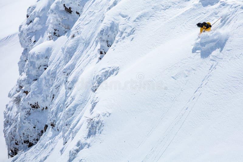 Bom dia de inverno, estação do esqui fotos de stock royalty free