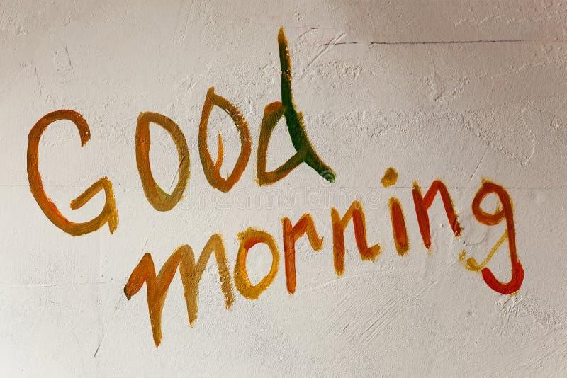 Bom dia na parede imagem de stock royalty free