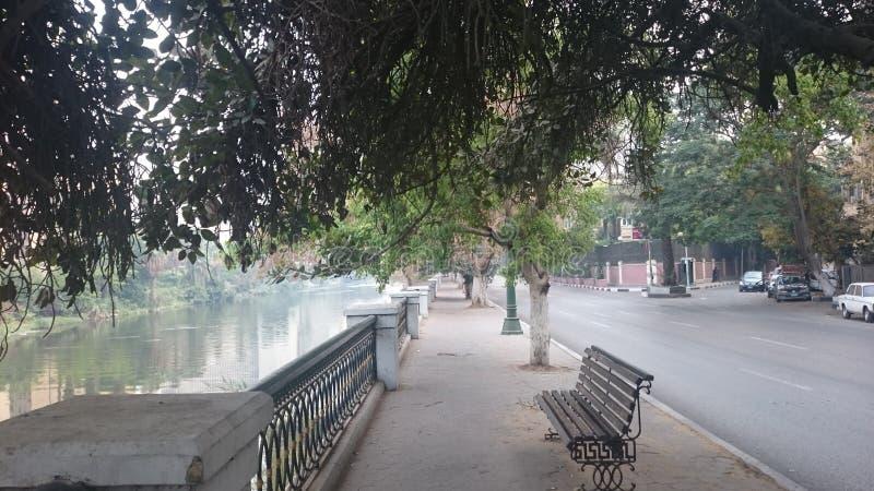 Bom dia pelo rio fotografia de stock