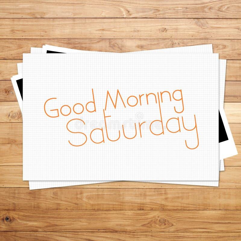 Bom dia sábado imagens de stock royalty free