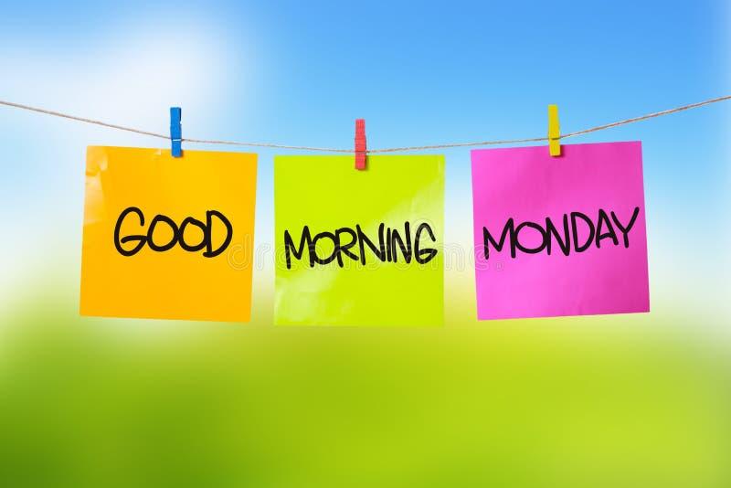 Bom dia segunda-feira fotografia de stock
