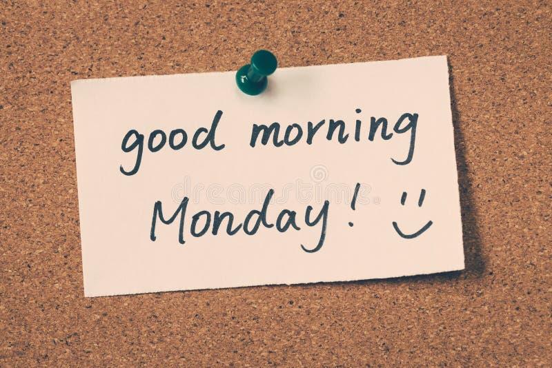 Bom dia segunda-feira imagens de stock royalty free
