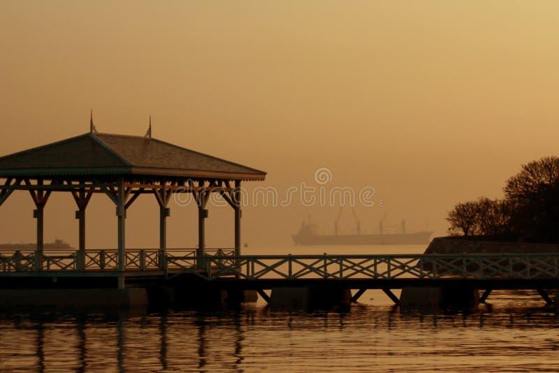Bom dia Sri Chang Island fotos de stock