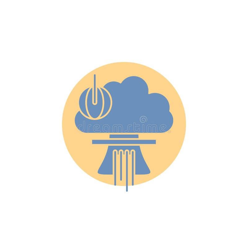 Bom, explosie, kern, speciaal, het Pictogram van oorlogsglyph stock illustratie