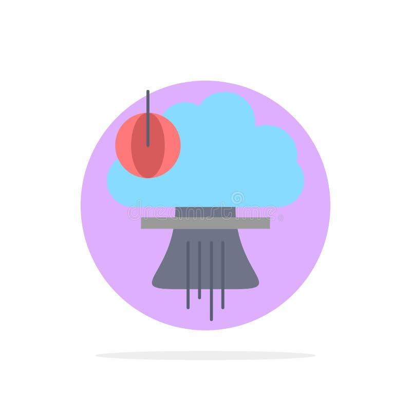 Bom, explosie, kern, speciaal, het Pictogramvector van de oorlogs Vlakke Kleur stock illustratie