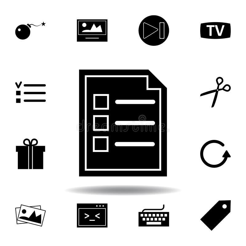 Bom, explosief wapenpictogram De tekens en de symbolen kunnen voor Web, embleem, mobiele toepassing, UI, UX worden gebruikt stock illustratie