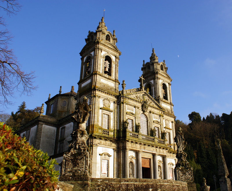 Bom Jesus. Church of Bom Jesus in Braga Portugal royalty free stock image