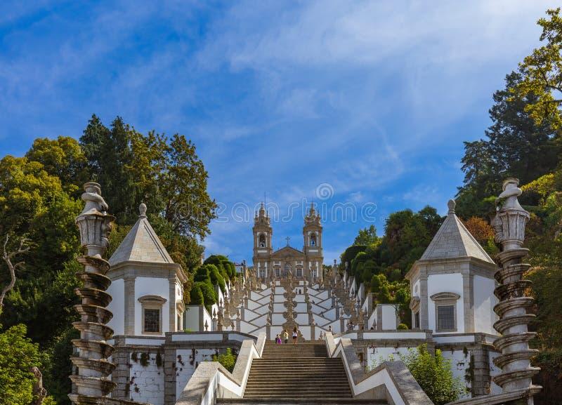 Bom Jesus church in Braga - Portugal. Architecture background royalty free stock photo