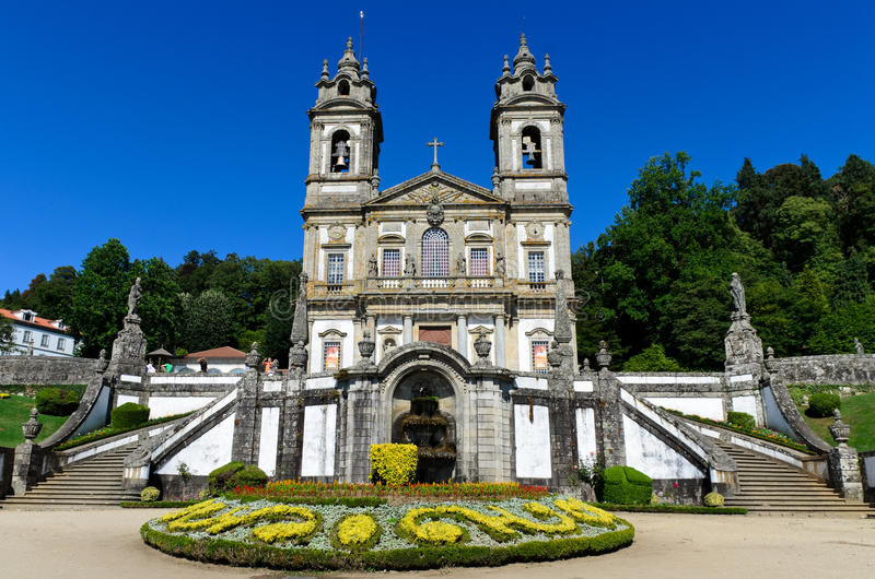 Bom Jesus de Braga, Portugal. Portuguese sanctuary Bom Jesus do Monte (Good Jesus of the Mount) in Braga, Portugal royalty free stock photography