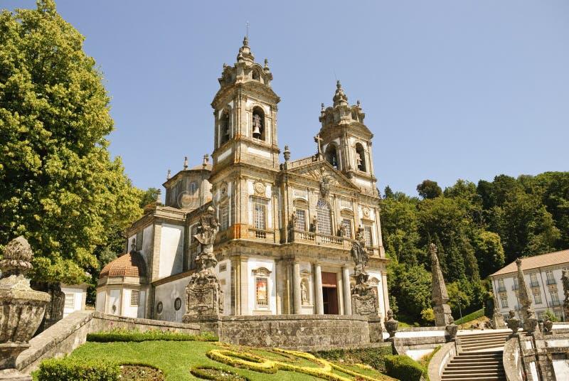 Bom Jesus do Monte, Braga. Cathedral of Bom Jesus do Monte in Braga, Portugal stock images