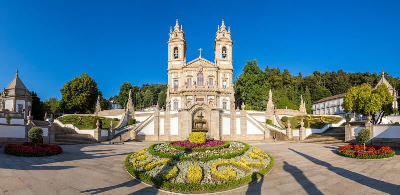Bom Jesus do Monte in Braga. Bom Jesus do Monte Monastery in Braga in a beautiful summer day, Portugal royalty free stock photos
