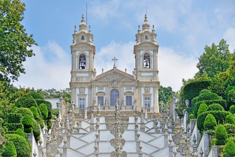 Bom Jesus do Monte, Braga, Portugal. Bom Jesus do Monte сhurch near the city of Braga, Portugal stock images