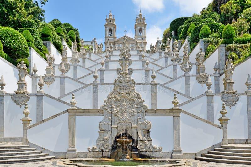 Bom Jesus do Monte, Braga, Portugal. Bom Jesus do Monte сhurch near the city of Braga, Portugal royalty free stock photography