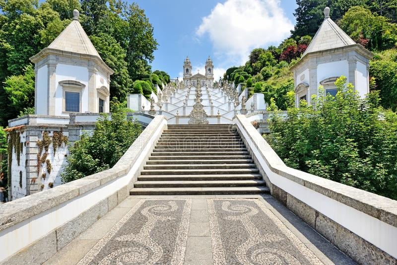 Bom Jesus do Monte, Braga, Portugal. Bom Jesus do Monte сhurch near the city of Braga, Portugal stock photography