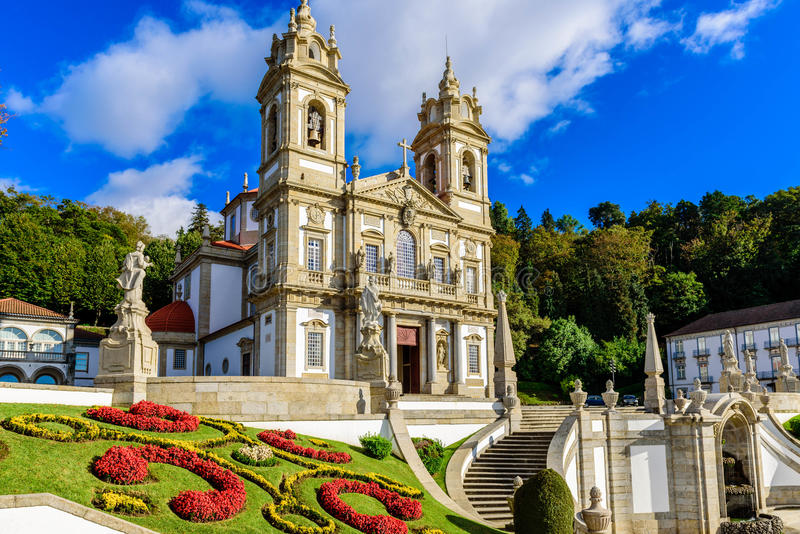 Bom Jesus do Monte, Braga. Portugal royalty free stock photography