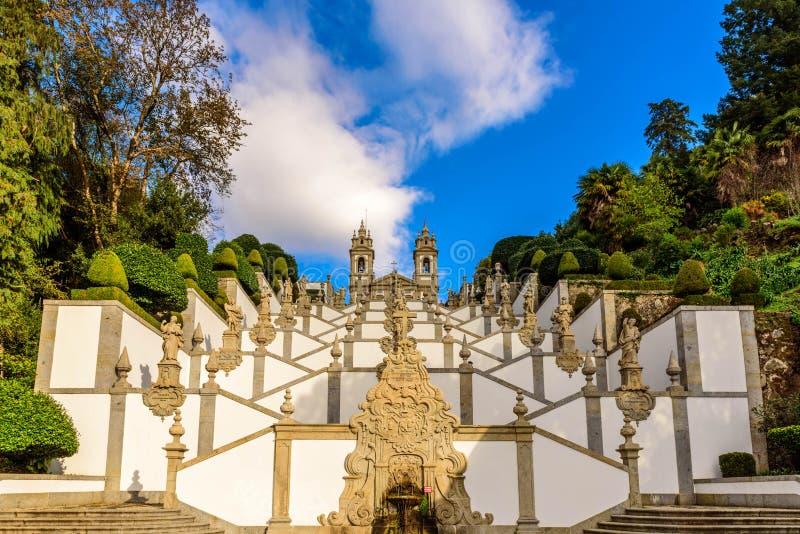 Bom Jesus do Monte, Braga. Portugal royalty free stock image