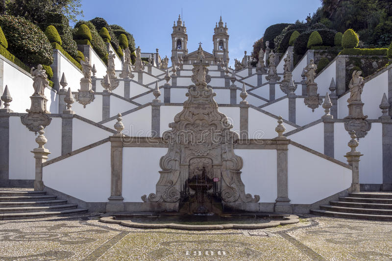 Bom Jesus do Monte - Braga - Portugal. Bom Jesus do Monte - a Portuguese sanctuary in Tenoes, outside the city of Braga, in northern Portugal. Its name means royalty free stock image