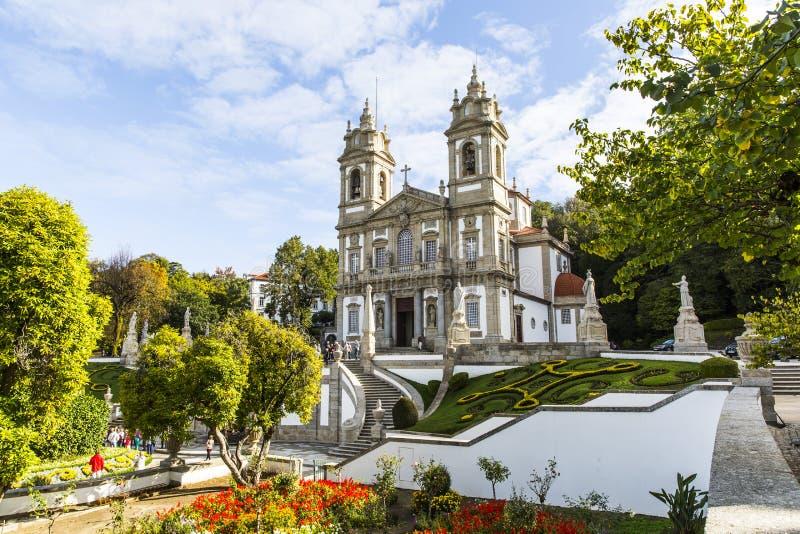 Bom Jesus do Monte near Braga. Bom Jesus do Monte, a Portuguese sanctuary in Tenoes, outside the city of Braga, in northern Portugal stock images