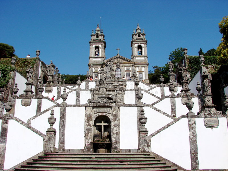 Bom Jesus do Monte sanctuary. Bom Jesus do Monte is a Portuguese sanctuary in the surroundings of Braga, in th enorth of Portugal royalty free stock photo