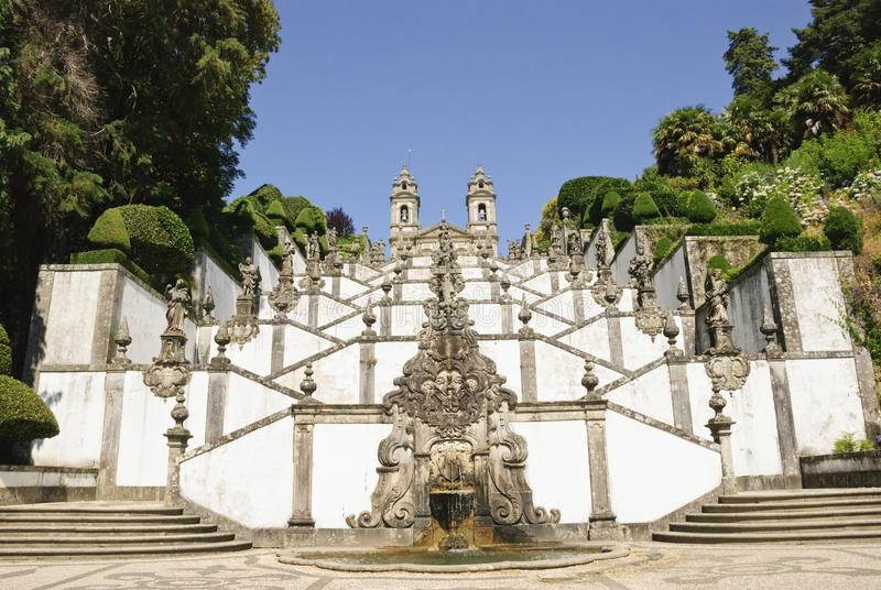 Bom Jesus fa Monte, Braga fotografia stock libera da diritti