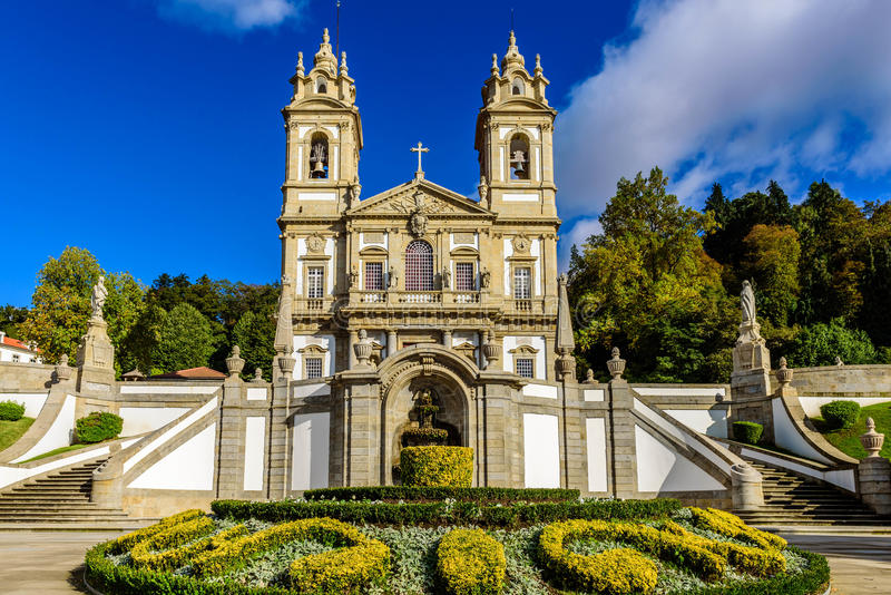 Bom Jesus gör Monte, Braga arkivfoton