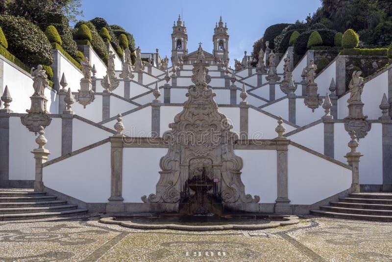 Bom Jesus gör Monte - Braga - Portugal royaltyfri bild