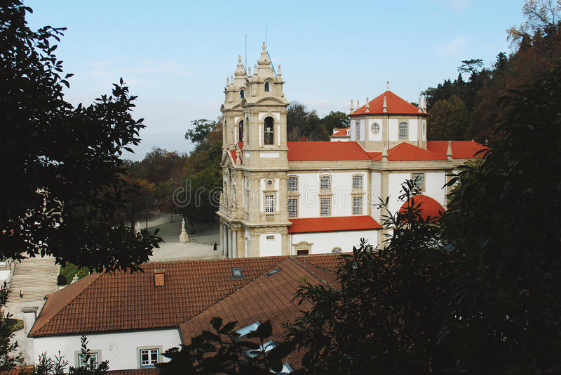 Bom-Jesus tun Monte Braga, Portugal stockbilder