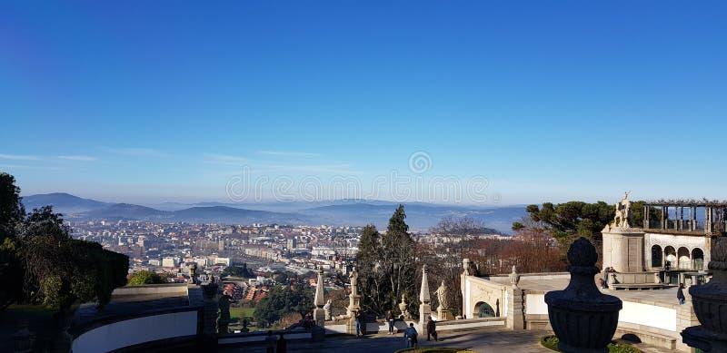 Bom Jesus view. Bom Jesus Braga city view royalty free stock image