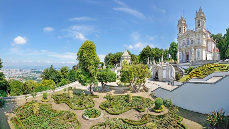 Bom Jezus Robi Monte, Braga, Portugalia zdjęcie royalty free