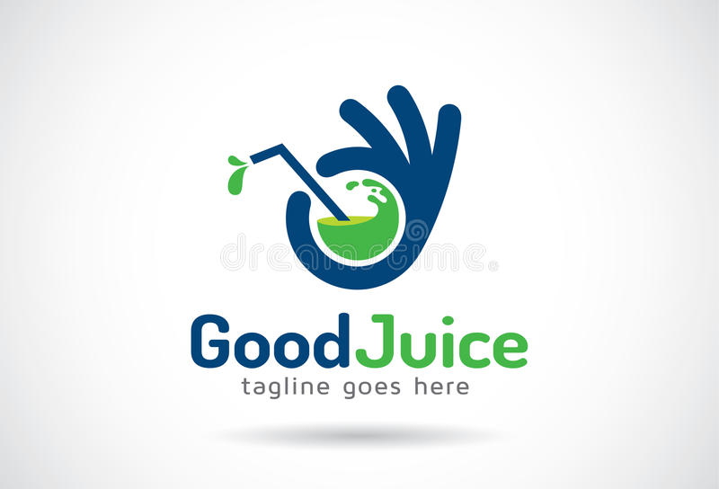 Bom Juice Logo Template Design Vetora, emblema, conceito de projeto, símbolo criativo, ícone ilustração stock