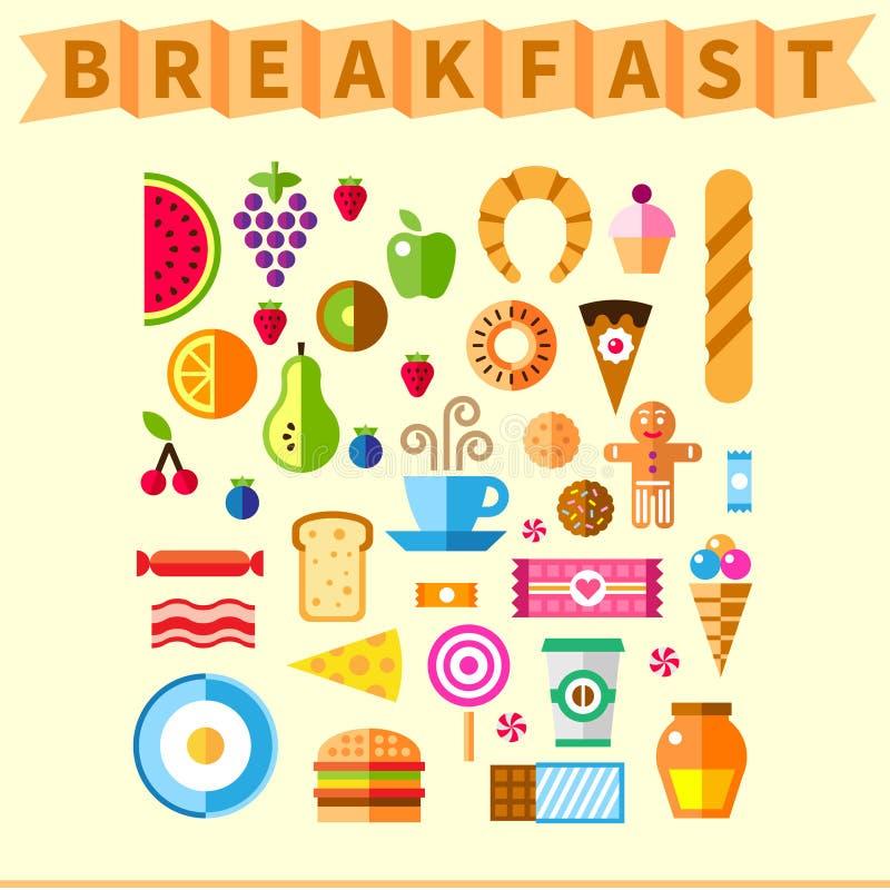 Bom pequeno almoço ilustração stock
