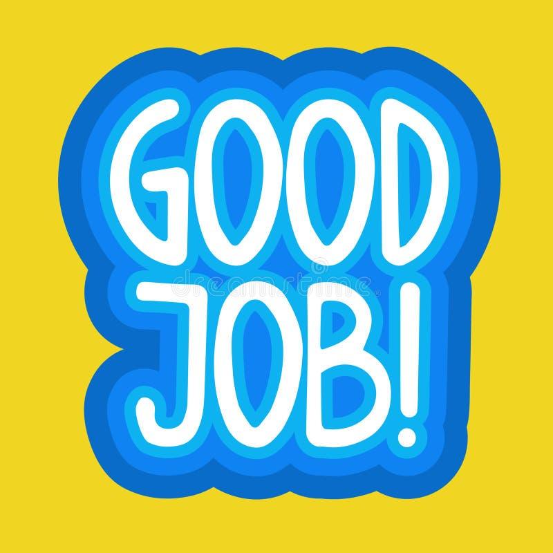 Bom projeto dos crachás da mensagem de Job Sticker Social Media Network ilustração do vetor