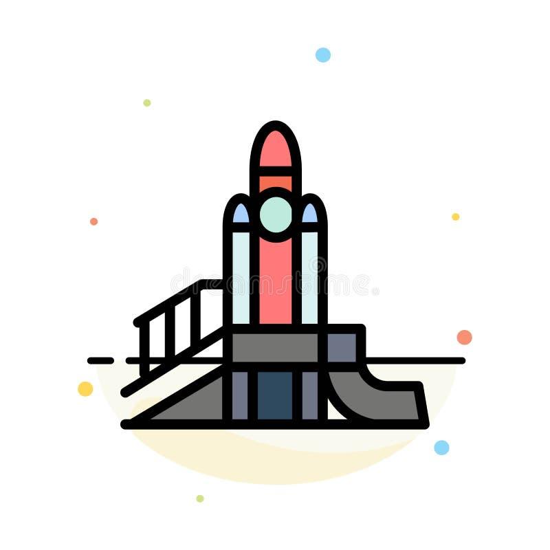 Bom, Spelen, Kern, Speelplaats, het Politieke Abstracte Vlakke Malplaatje van het Kleurenpictogram stock illustratie