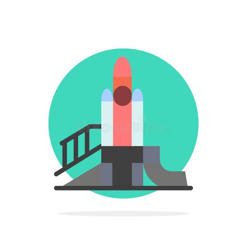 Bom, Spelen, Kern, Speelplaats, Politiek Abstract Cirkel Achtergrond Vlak kleurenpictogram vector illustratie