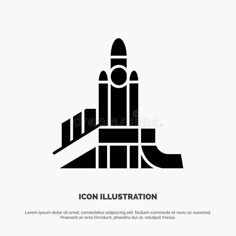 Bom, Spelen, Kern, Speelplaats, Politieke stevige Glyph-Pictogramvector vector illustratie
