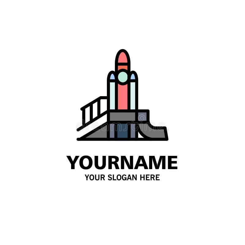 Bom, Spelen, Kern, Speelplaats, Politieke Zaken Logo Template vlakke kleur royalty-vrije illustratie