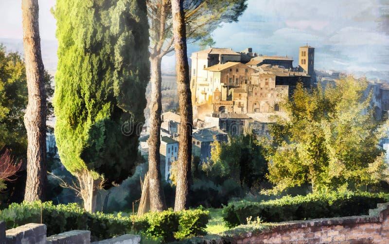 Bomarzo - pueblo medieval fotografía de archivo