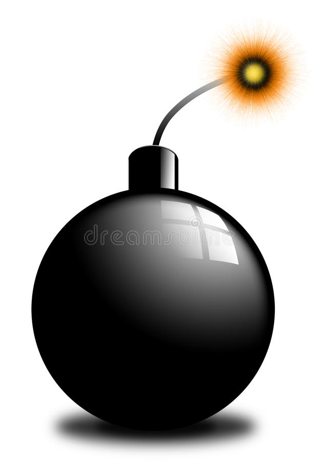 Download Bomb stock illustration. Image of granade, munition, dynamite - 12279300