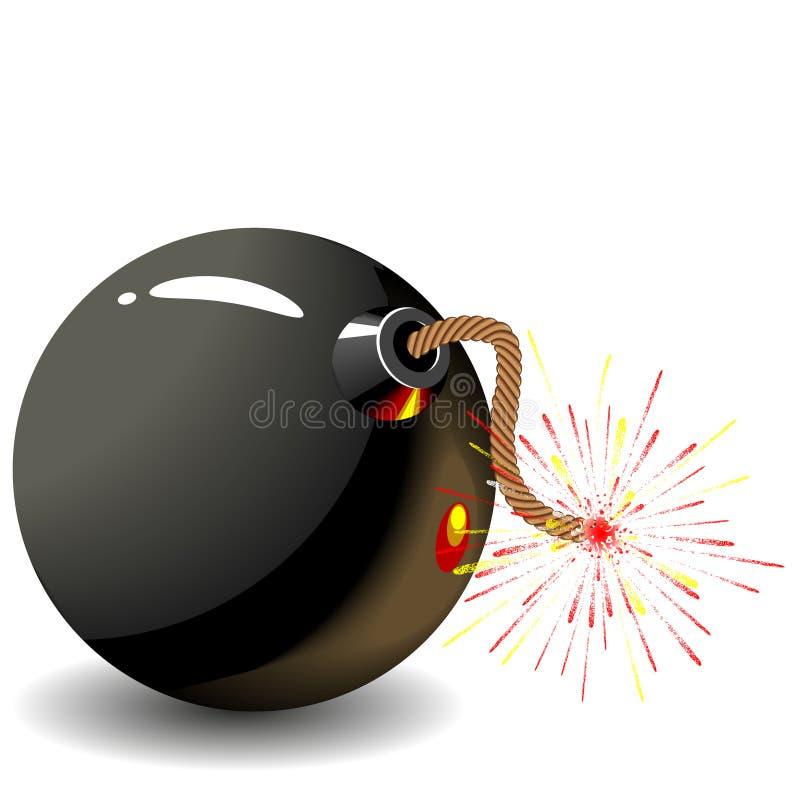 Download Bomb stock illustration. Illustration of gunpowder, forces - 26609303
