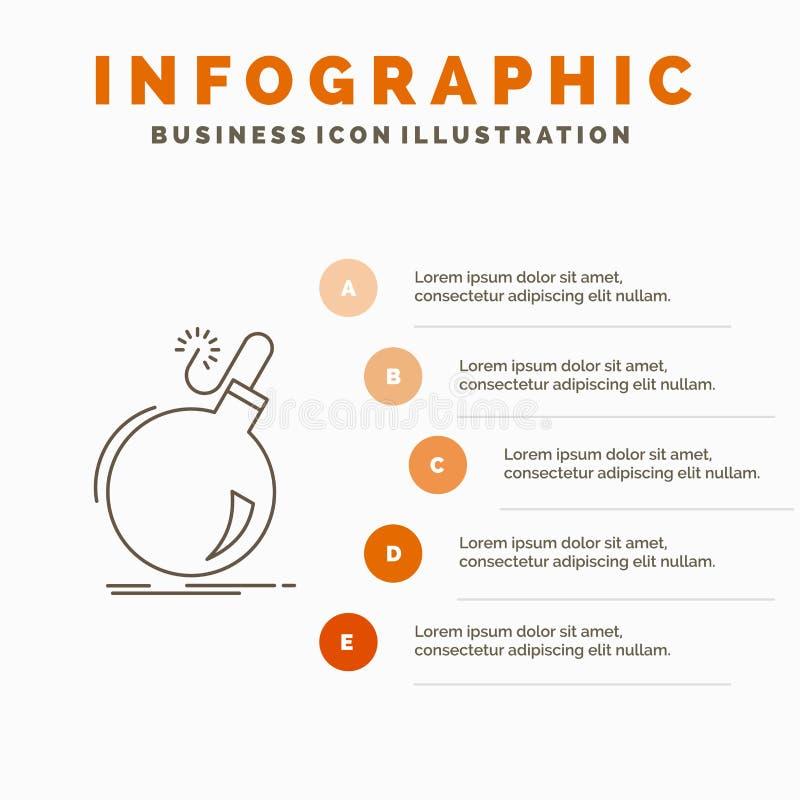 Bomb, Boom, Danger, Ddos, Explosion Infographics Template