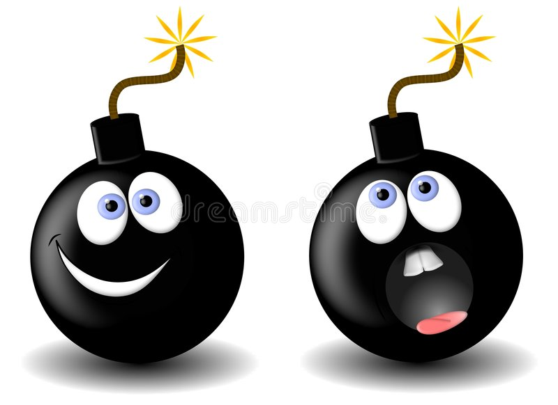 Download Bomb Cartoons Facial Expressions Stock Illustration - Illustration: 5290636