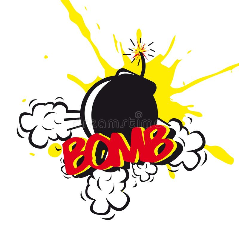 Bomb Comic Stock Images