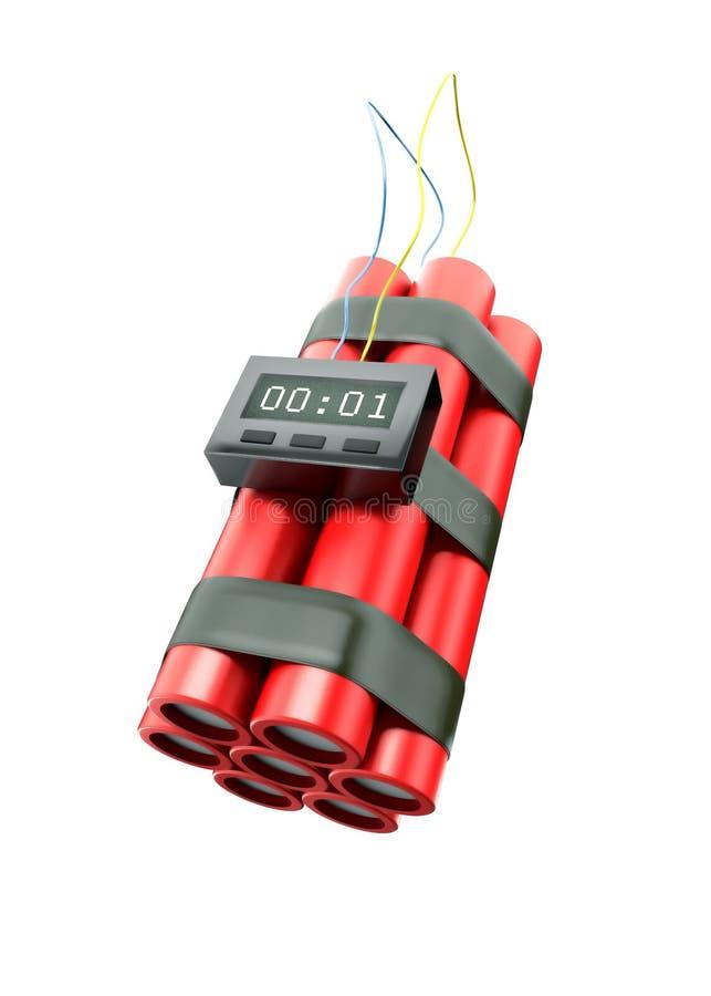 Bomb countdown vector illustration