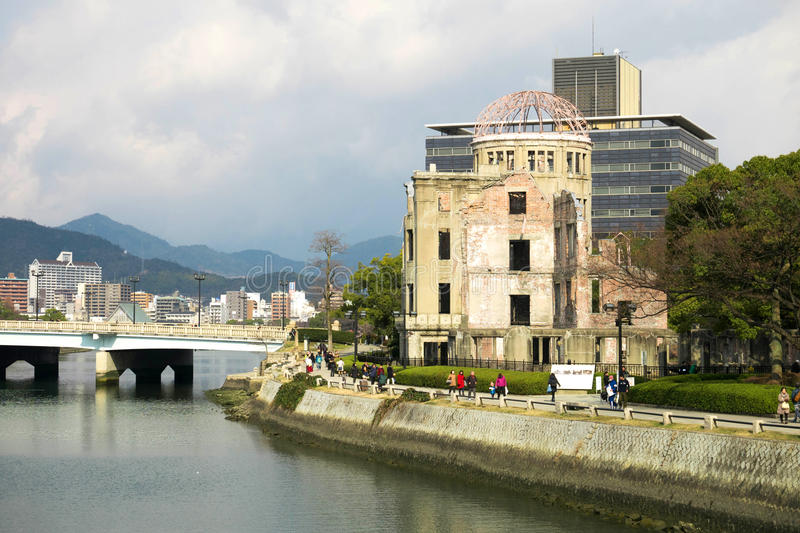 A-bomb dome at Peace memorial park, Hiroshima, Japan. Atomic bomb dome at Peace memorial park, Hiroshima, Japan royalty free stock photo
