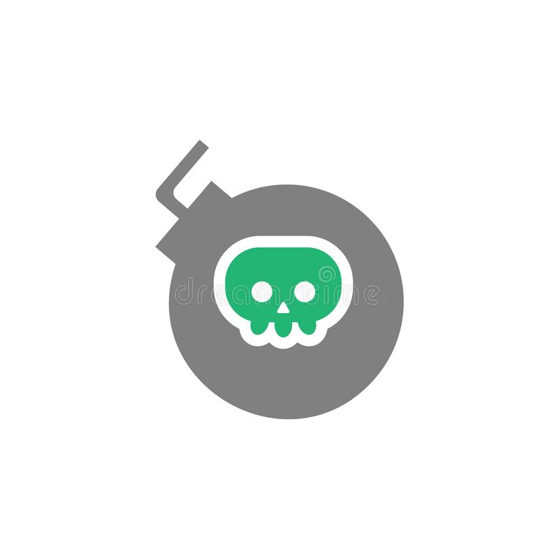 Bomb, explode icon. Element of Cyber and Security icon for mobile concept and web apps. Detailed Bomb, explode icon can be used vector illustration
