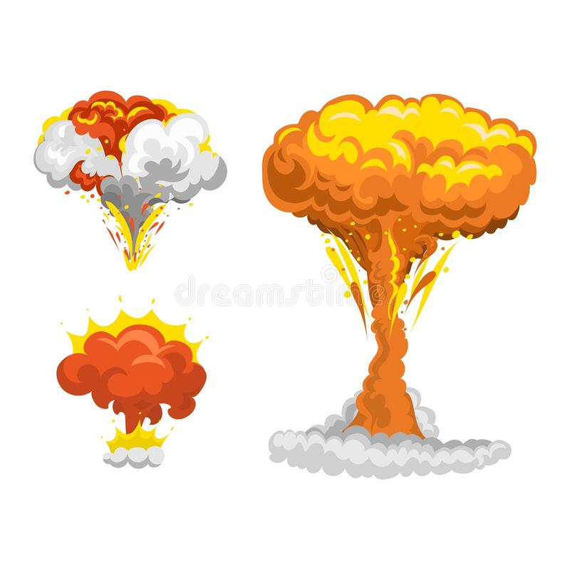 Bomb explosion effect vector royalty free illustration